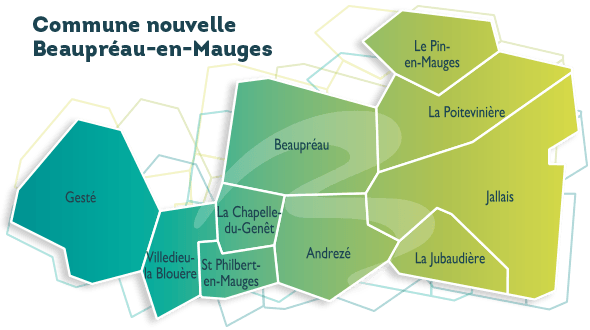 carte Beaupreau en Mauges